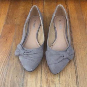 Tailor pointed toe ballet flats